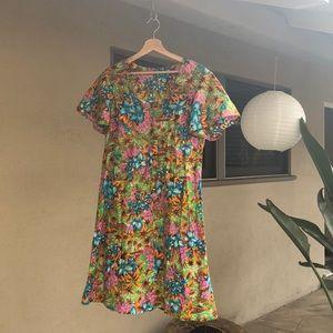 Dresses & Skirts - ▪️vintage hawaiian dress▪️tiki blue green